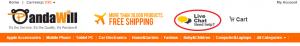Чат для общения с продавцом в китайском онлайн магазине электроники Pandawill