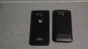 Сравнение китайских телефонов. Вид сзади JiaYu G3 и THL W3+