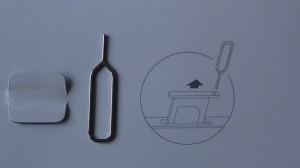 Шпилька для извлечения микросимкарт из телефона