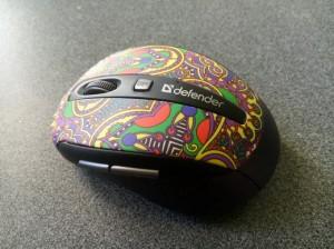 беспроводная оптическая мышь Defender to-go MS-585 с двумя дополнительными кнопками