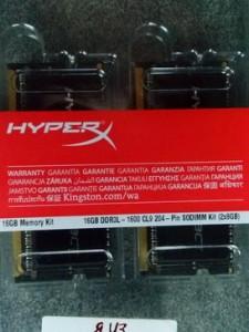 Оперативная память Kingston HyperX Impact PC3-12800 SO-Dimm DDR3L 1600 MHz CL9